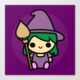 Cute spooky witch Canvas Print