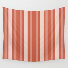 Dark Coral Victorian Lady Stripe Wall Tapestry
