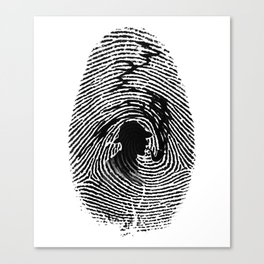 Mark of a great detective Canvas Print