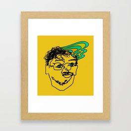 Bef - mustard Framed Art Print