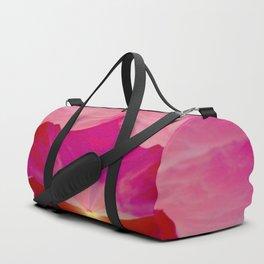 Pink romantic mountains Duffle Bag