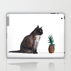 cat and pineapple Laptop & iPad Skin