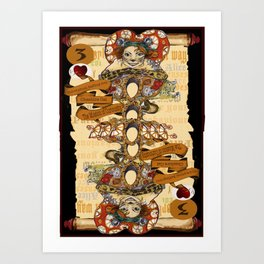 'Cheshire' (Alice in Wonderland Steampunk Series) Art Print