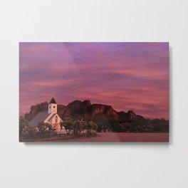 Pink Chapel Metal Print