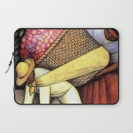 """""""The Flower Carrier"""" by Diego Rivera Laptop Sleeve"""