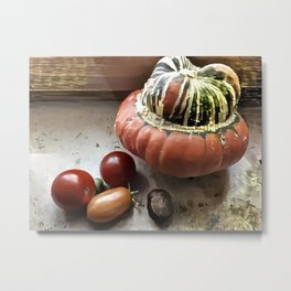 Counter Still with Tomatoes Metal Print