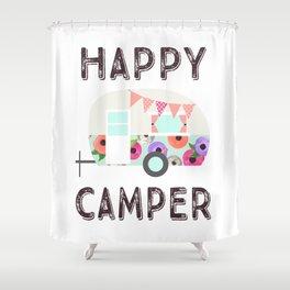 Happy Camper - Retro Floral Camper Shower Curtain