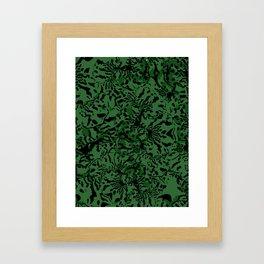 GREEN TRIDANCA Framed Art Print
