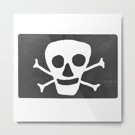 Pirate flag Metal Print