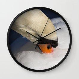The Preening Swan Wall Clock