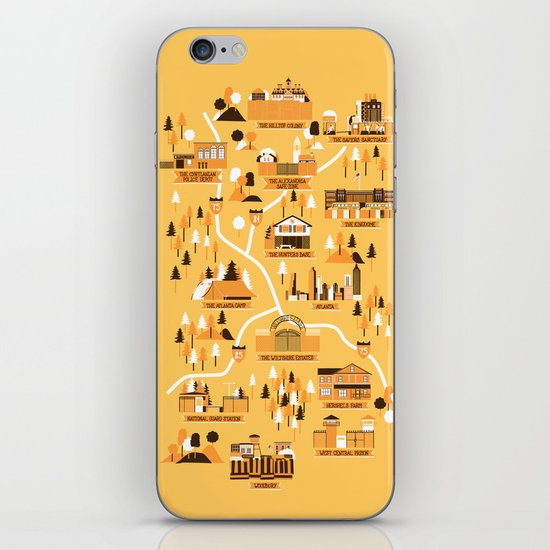 Survivors Map iPhone & iPod Skin