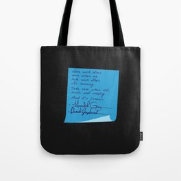 Merder's Post-it Wedding (Grey's Anatomy) Tote Bag