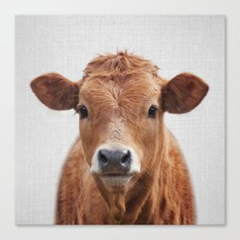 Cow 2 - Colorful Canvas Print