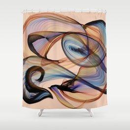 Bird Flame Peach Shower Curtain