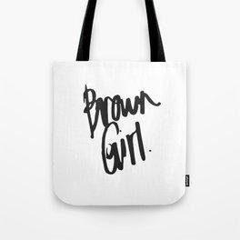 Brown Girl Hand Tote Bag