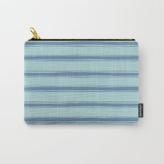 Cobalt blue french striped Carry-All Pouch