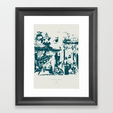 Other side of the glass. Framed Art Print