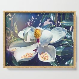 Magnolia Blossom and Bee Serving Tray