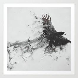 Smoke Crow Art Print