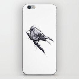 Bird Handmade Drawing, Art Sketch, Uccellino, Illustration iPhone Skin