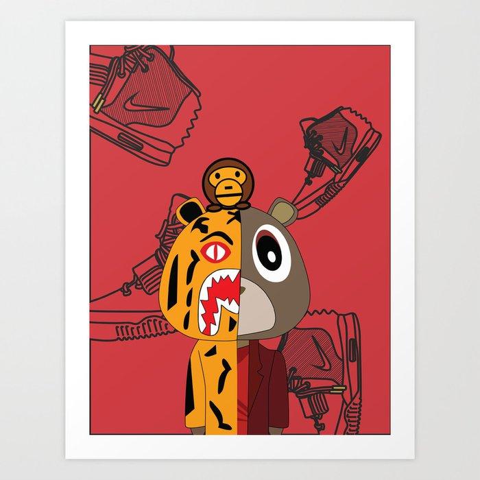 Yeezy X Bape Art Print