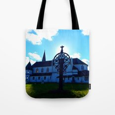 Old Church and Grave marker Tote Bag