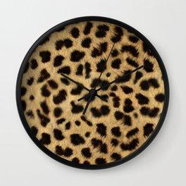Faux Cheetah Skin Design Wall Clock