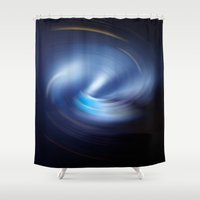 outer space Shower Curtains featuring Outer Space by Syella