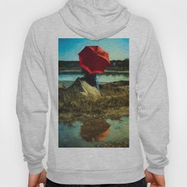 Girl with Red Umbrella Hoody