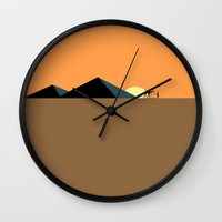 pyramid Wall Clocks featuring Pyramid  by TLineInc
