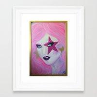 jem Framed Art Prints featuring Jem Star by Clare Chapman