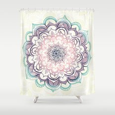 Mermaid Medallion Shower Curtain