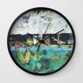 Aloe Abstract Painting Green Wall Clock