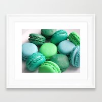 macaroons Framed Art Prints featuring Macaroons by Sara Chergui