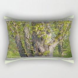 EMERGING BIGLEAF MAPLE IN SPRINGTIME Rectangular Pillow