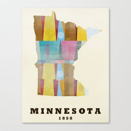 Minnesota state map modern Canvas Print