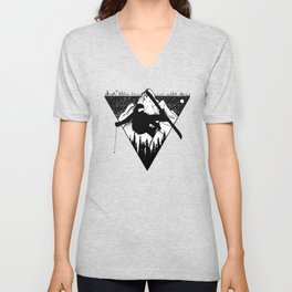 Mountain and Ski Unisex V-Neck