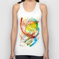 contact Tank Tops featuring contact by Kay Weber