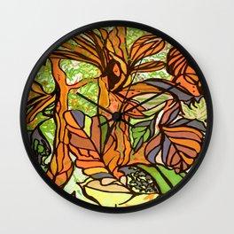 Outono sepia Wall Clock