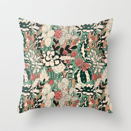 Scculents Throw Pillow