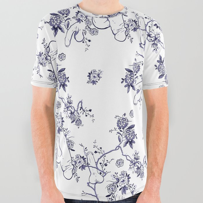 c38013b7e9 Penis Pattern All Over Graphic Tee by dapperdan