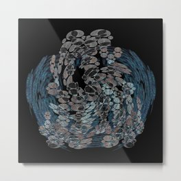Elegant Stone Whirlwind Earth Elements Abstract Metal Print