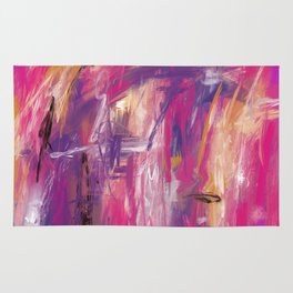 It is so Wavey Bright Pink Magenta Purple Handmade Abstract Rug