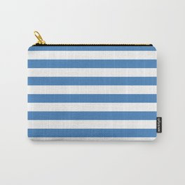 CVS0088 Azure Blue and White Stripes Carry-All Pouch