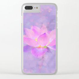 Lotus Emerging from the Water Clear iPhone Case