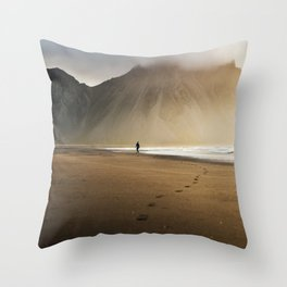 Sunny morning in Iceland Throw Pillow