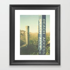 Beach Access Framed Art Print