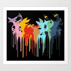 Eeveelution Art Print