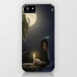 Reading in the moonlight iPhone Case