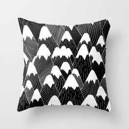 Snow Tops Pattern Throw Pillow